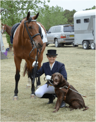 "PARALYMPIC RIDER SUE-ELLEN LOVETT  ON THE WAY TO GRAND PRIX WITH   ""DESIDERATA"" Victoria Ferguson"